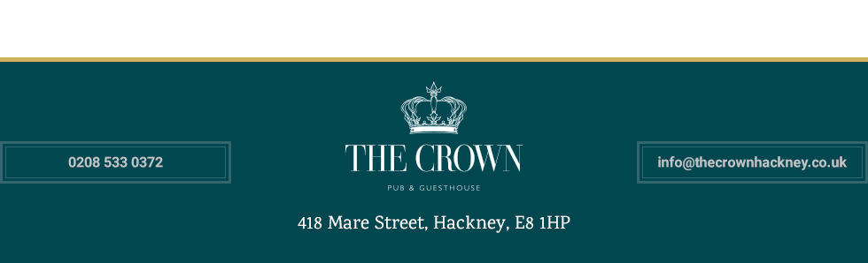 Thanks for visiting The Crown Hackney